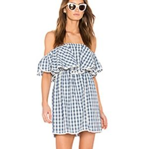 MISA Los Angeles Dress Lu Gingham Dress Sz M
